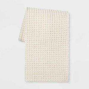 60″x50″ Chenille Throw Blanket Cream